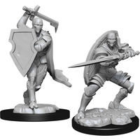 Unpainted Miniatures-  Warforged Fighter Male (5E)