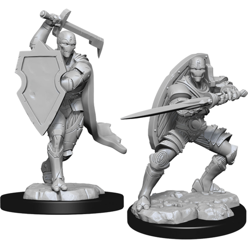 Wizk!ds Unpainted Miniatures-  Warforged Fighter Male (5E)