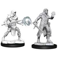 Unpainted Miniatures- Multiclass Fighter + Wizard Male  (5E)