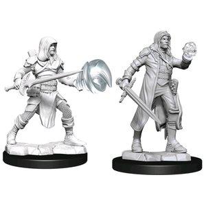 Wizk!ds Unpainted Miniatures- Multiclass Fighter + Wizard Male  (5E)