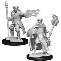 Unpainted Miniatures- Multiclass Cleric + Wizard Male  (5E)
