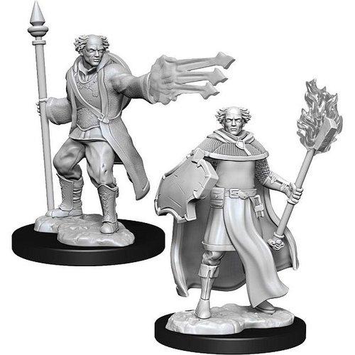 Wizk!ds Unpainted Miniatures- Multiclass Cleric + Wizard Male  (5E)