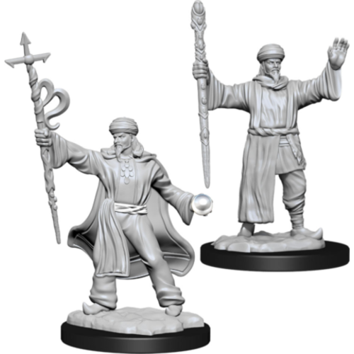 Wizk!ds Unpainted Miniatures- Human Wizard Male  (5E)