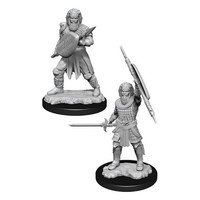 Unpainted Miniatures- Human Fighter Male  (5E)