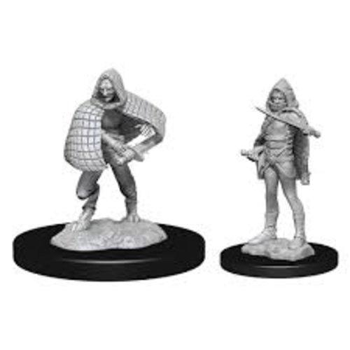 Wizk!ds Unpainted Miniatures- Darkling Elder & Darklings (5E)