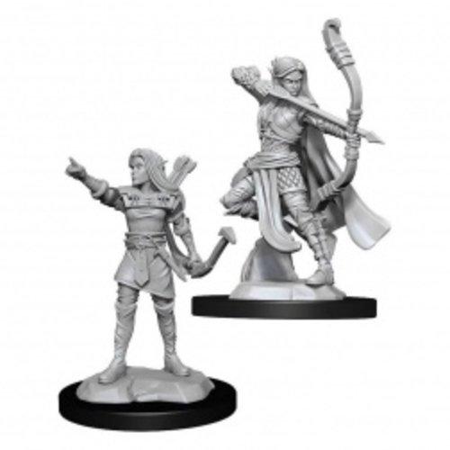 Wizk!ds Unpainted Miniatures- Elf Ranger Female (5E)