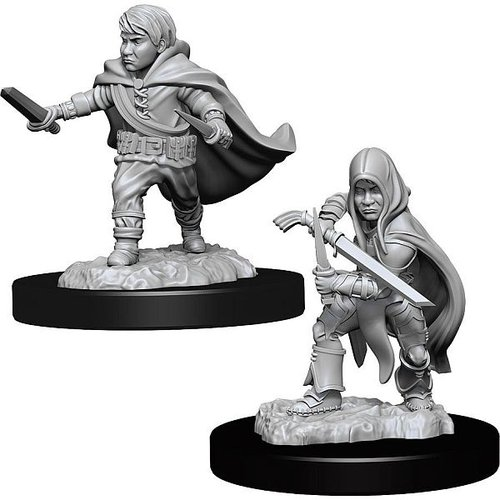 Wizk!ds Unpainted Miniatures- Halfling Rogue Male (5E)