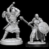 Unpainted Miniatures- Human Barbarian Male (5E)