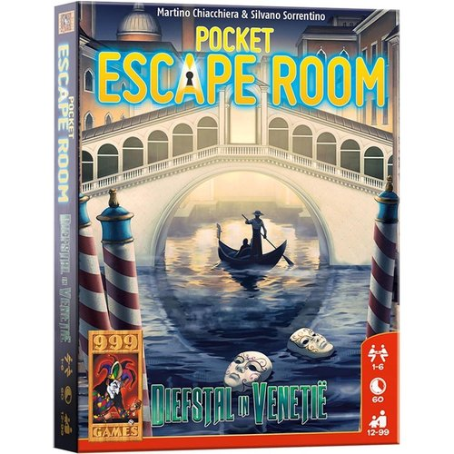 999 Games Pocket Escape Room- Diefstal in Venetie