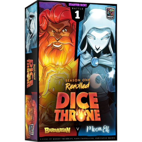 Roxley Games Dice Throne Season 1 Rerolled- Barbarian vs Moon Elf (Box 1)