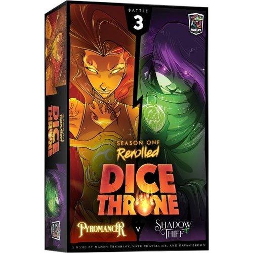Roxley Games Dice Throne Season 1 Rerolled- Pyromancer vs Shadow Thief (Box 3)