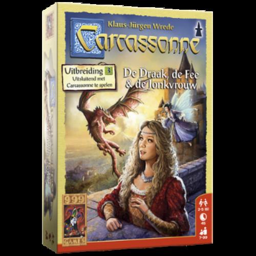 999 Games Carcassonne- De Draak, de Fee en de Jonkvrouw exp.