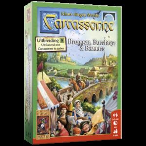 999 Games Carcassonne- Bruggen, Burchten en Bazaars uitbreiding