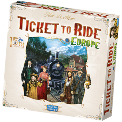 Days of Wonder PREORDER- Ticket To Ride ENG- Europe 15th Anniversary  (MAY 2021)
