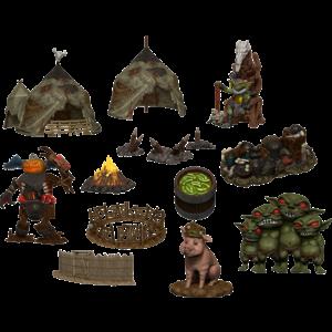 Wizk!ds Pathfinder Battles- Legendary Adventures- Goblin Village Premium Set