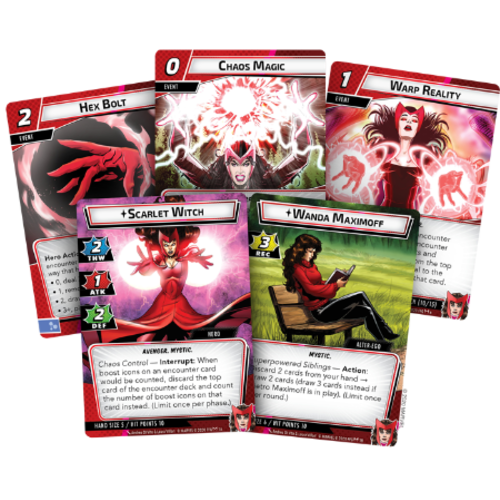 Asmodee Marvel Champions LCG- Scarlet Witch Hero Pack