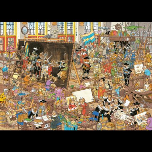 Jumbo Een Dagje naar het Museum - Jan van Haasteren (2 x 1000)