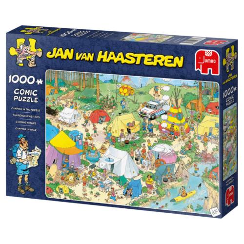 Jumbo Kamperen in het Bos - Jan van Haasteren (1000)
