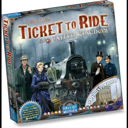 Days of Wonder Ticket to Ride- UK & Pennsylvania exp.