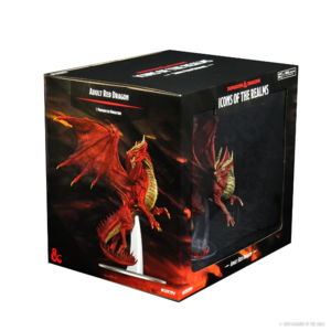 Wizk!ds D&D Icons of the Realm- Adult Red Dragon Premium Figure (painted)