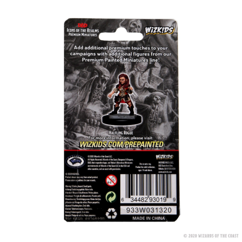 - D&D Icons of the Realms Premium Figures: Halfling Female Rogue