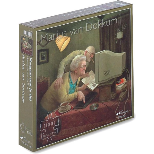 Art Revisited Puzzel Meegaan met je Tijd- Marius van Dokkum (1000)