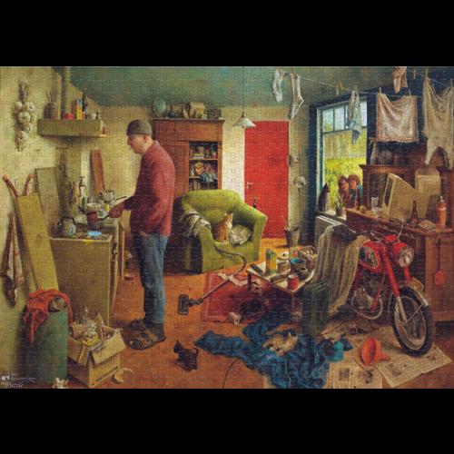 Art Revisited Puzzel Mannenhuishouding- Marius van Dokkum (1000)