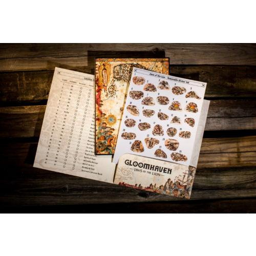 Cephalofair Games Gloomhaven Jaws of the Lion- Removable Sticker Sheet and Map
