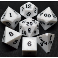 White Opaque Polyhydral Dice Set