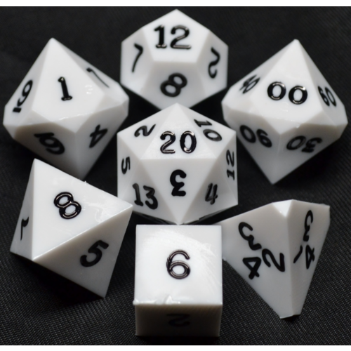 - White Opaque Polyhydral Dice Set