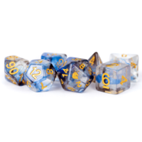 Unicorn Resin Polyhedral Dice Set Arctic