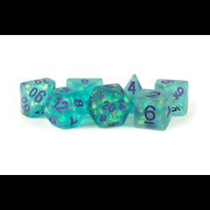 Metallic Dice Teal w/ Purple Icy Opal Dice