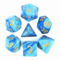 Sky Blue + Blue Blend Dice Set