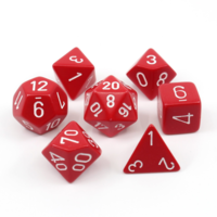 Red Opaque Polyhydral Dice Set