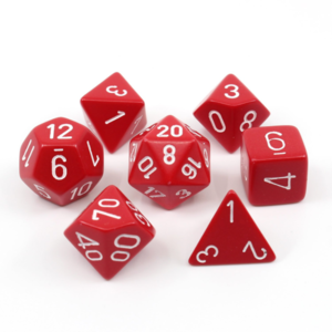 - Red Opaque Polyhydral Dice Set
