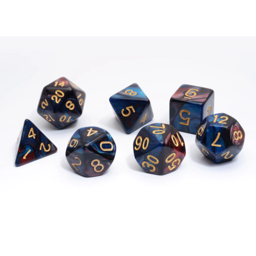 - Red and Blue Blend Polyhydral Dice Set