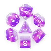 Purple Layer Polyhydral Dice Set