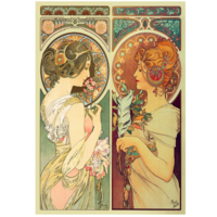 Puzzel- Feather & Cowslip- Alfons Mucha (250)