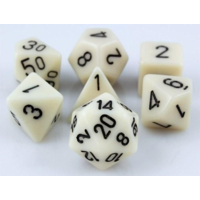 Ivory Opaque Polyhydral Dice Set