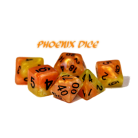 Halfsies Dice Phoenix Fiery Orange & Phoenix Tail Yellow
