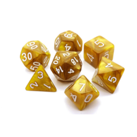 Golden Pearl Polyhydral Dice Set