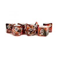 Eternal Resin Polyhedral Dice Set Fire