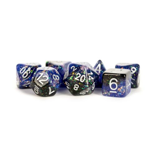Metallic Dice Eternal Resin Polyhedral Dice Set Blue/Black