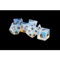 16mm Stone Poly Dice Set: Opalite