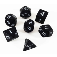 Black Opaque Polyhydral Dice Set
