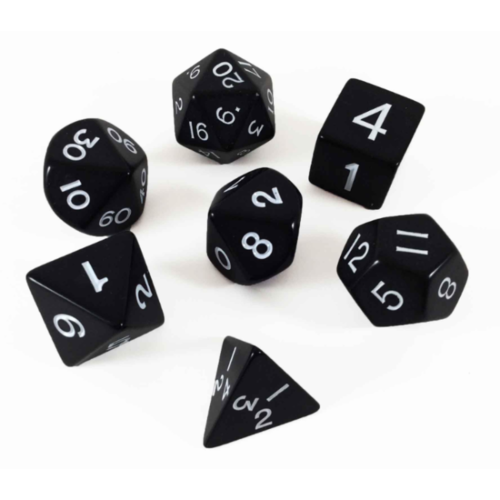 - Black Opaque Polyhydral Dice Set