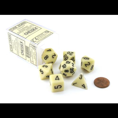 Chessex Ivory w/Black 7-Die Set