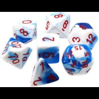 Gemini Astral Blue/white  Polyhedral 7-Die Set