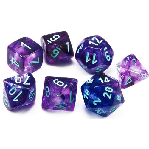 Chessex Nebula Nocturnal/Blue Luminary 7-Die Set