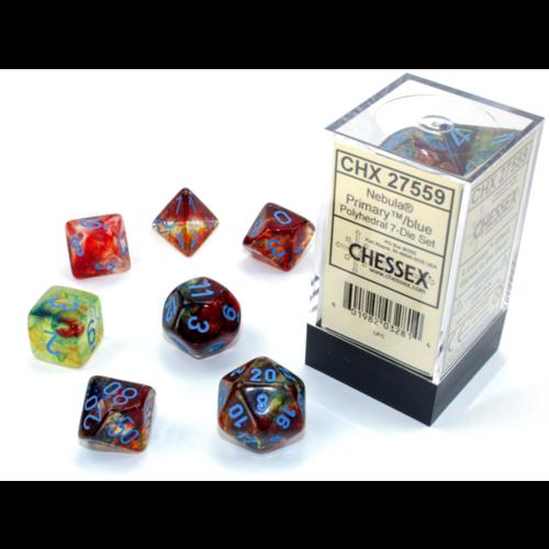 Chessex Nebula Primary/Blue Luminary 7-Die Set